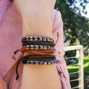 Jewelry - BOHO VIBES FAUX LEATHER BRACELET